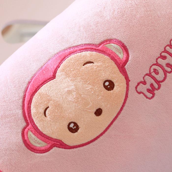 可爱香蕉小猴子圆柱抱枕