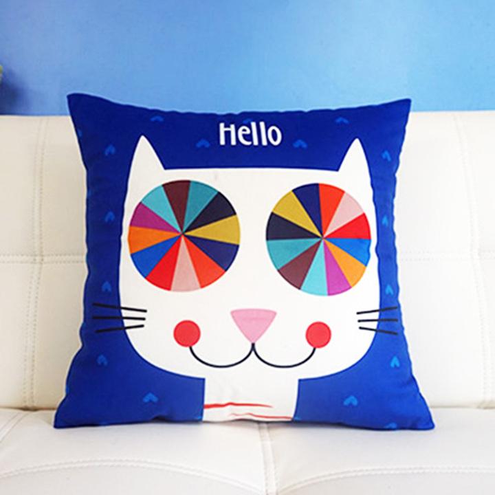 可爱猫咪沙发绒布抱枕