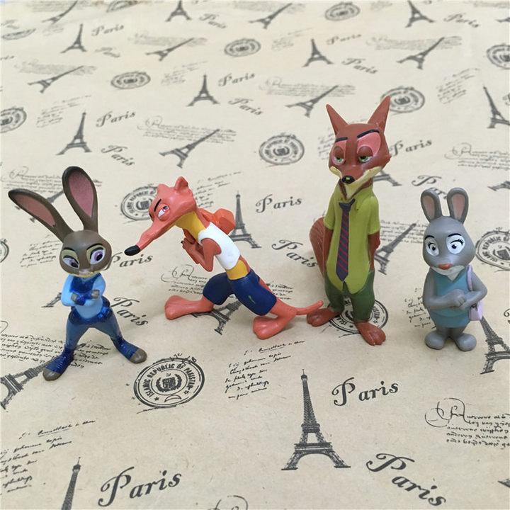 迪士尼疯狂动物城12款动物模型手办
