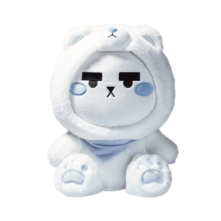 同道大叔动漫周边可爱毛绒卡通造型变装摩羯座白熊星座娃娃公仔巨蟹座和狮子座的好吗图片