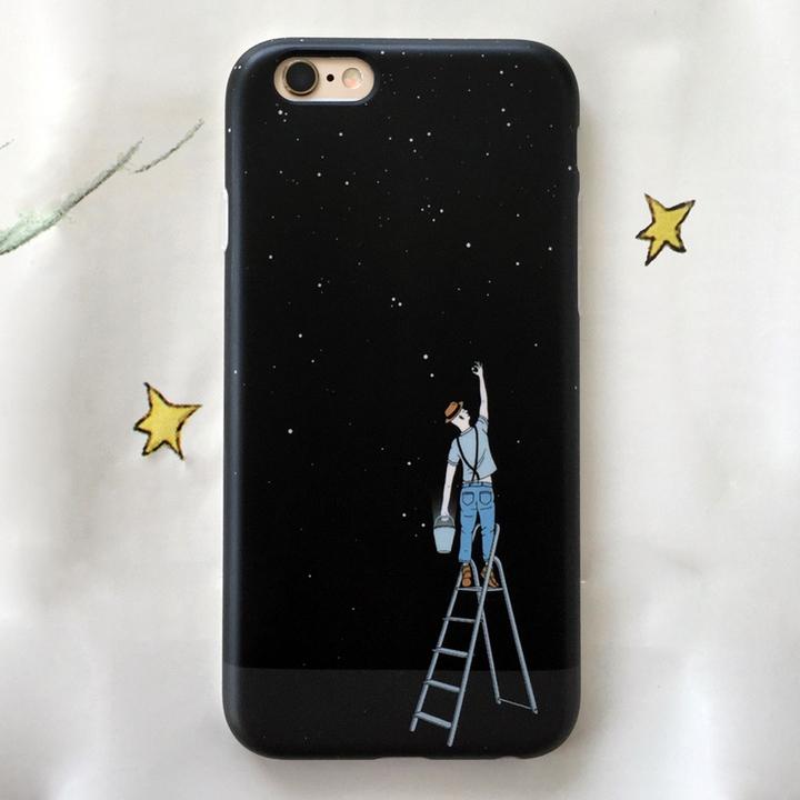 黑色摘星星苹果6s手机壳