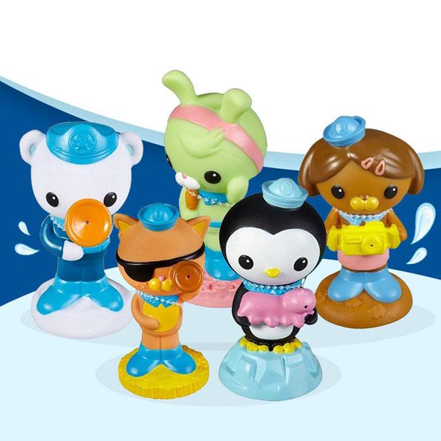费雪海底小纵队octonauts宝宝欢乐装洗澡玩具