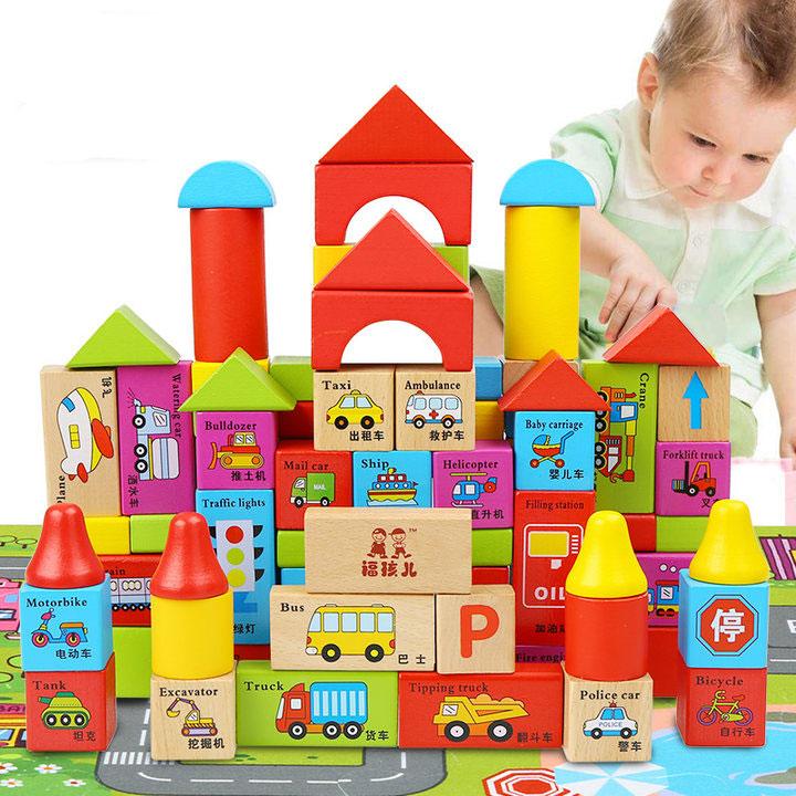 简笔画 积木房子
