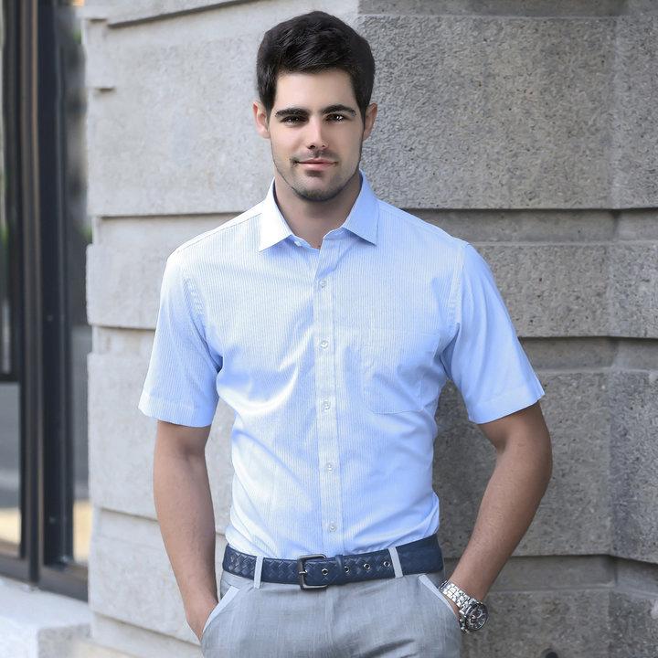 雅戈爾短袖商務男士襯衫圖片