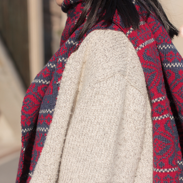 双面毛线编织围巾