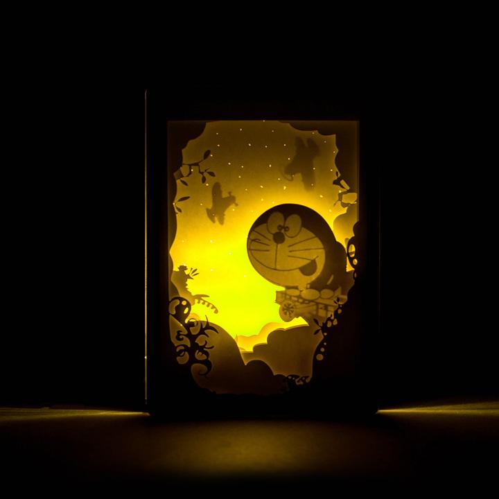 创意哆啦a梦立体光影纸雕灯