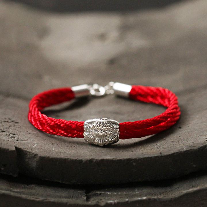 【牡丹转运珠红绳手链】【送男朋友 送女朋友 送老人
