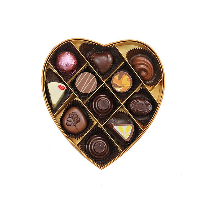 歌帝梵至爱巧克力心形礼盒11颗装