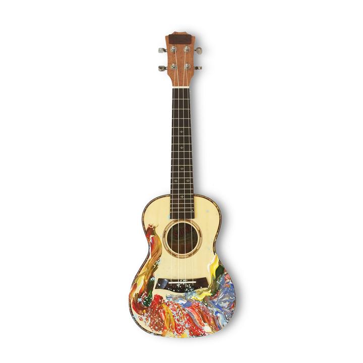 ukulele手繪23寸烏克麗麗尤克里里 吉他初學者
