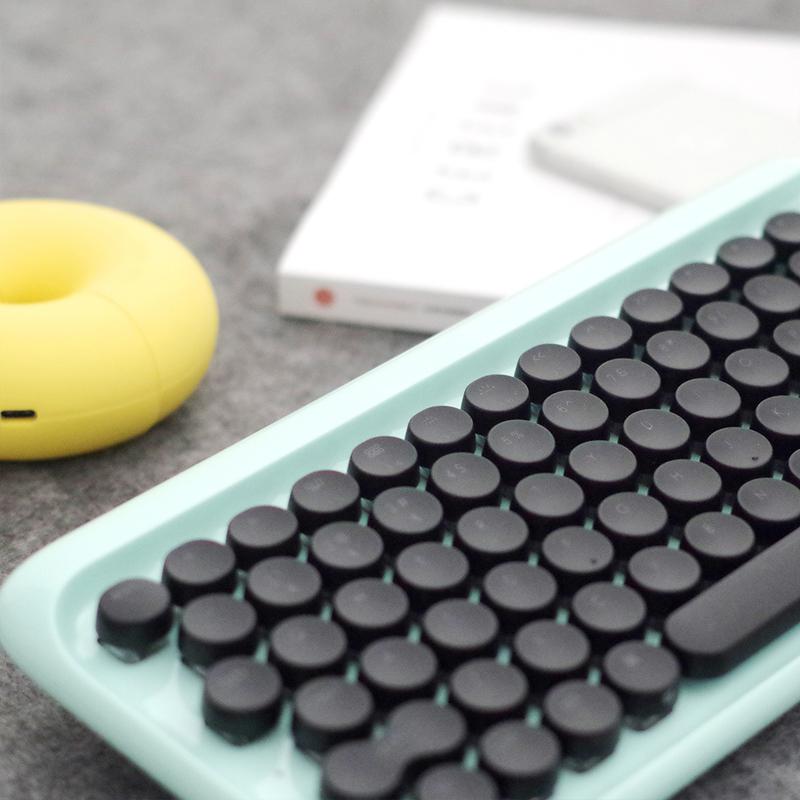 洛斐dot圆点蓝牙机械键盘无线复古手机ipad平板苹果mac办公键盘