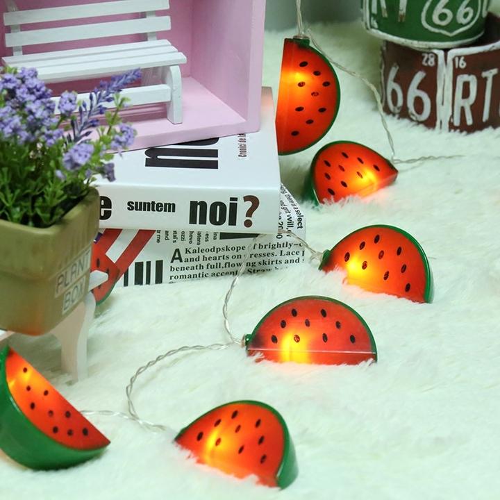 led西瓜装饰diy创意浪漫布置房间拍照小彩灯串泡