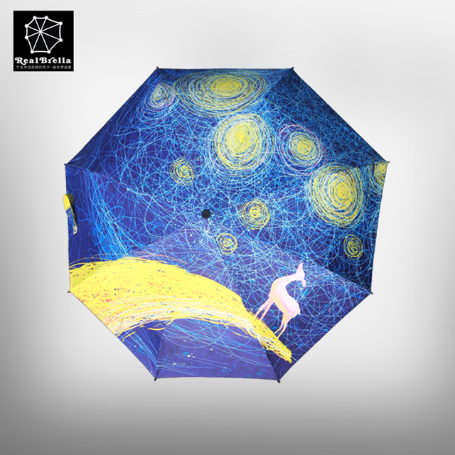 雨伞图案设计星空