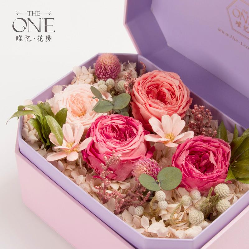 theone唯忆 绵绵的梦 进口永生花礼盒干花玫瑰花盒创意礼物图片