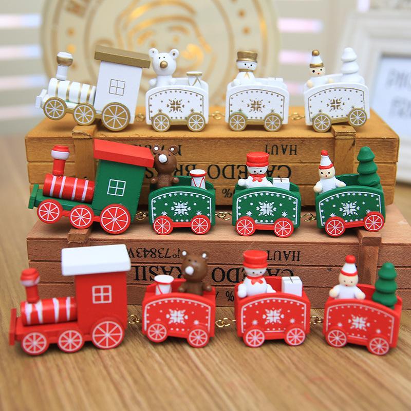 新款圣诞节装饰礼品圣诞小火车儿童幼儿园节日礼物装饰摆件道具