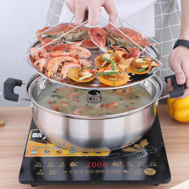 蒸海鲜家用蒸气锅不锈钢汽锅桑拿多功能蒸汽火锅海鲜锅蒸锅蒸汽锅