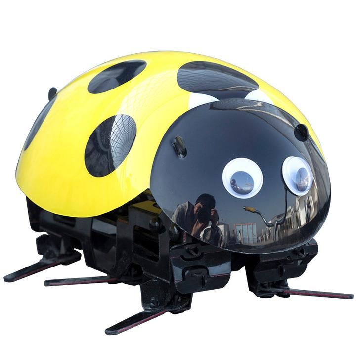 【抖音爆款】七星瓢虫机器人儿童玩具遥控智能仿生动物男孩逗逗虫小蜜