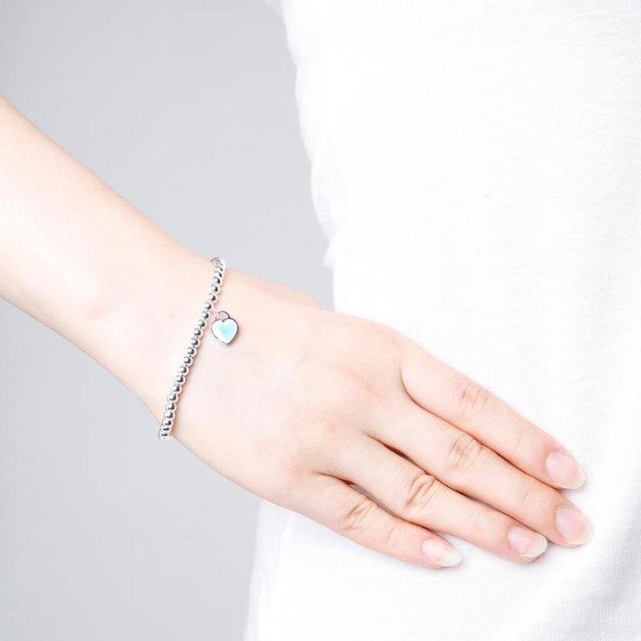 TIFFANY 蒂芙尼珠式蓝心手链 S925银