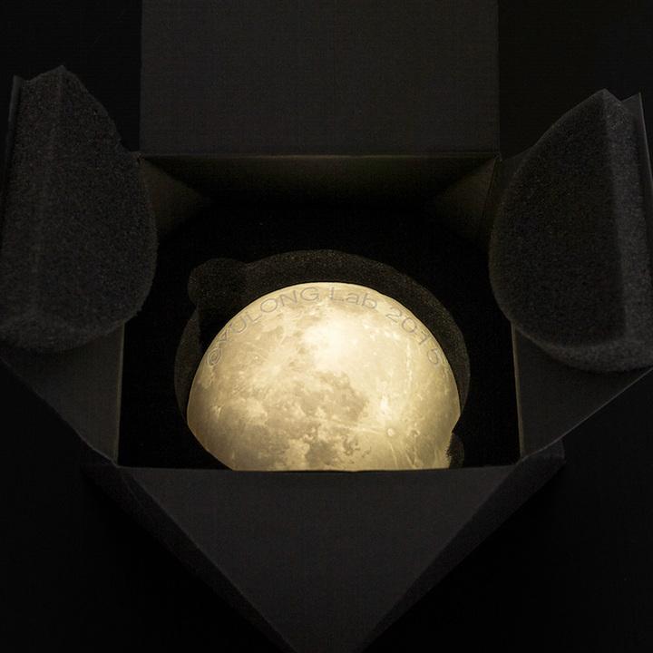 创意陶瓷月球灯 家居装饰灯 卧室走廊灯中秋送礼月亮灯
