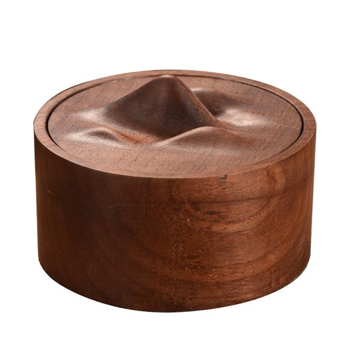 山水茶叶罐木质储物盒创意饰品个性木盒首饰盒木制小号功夫小茶罐 418开始发售