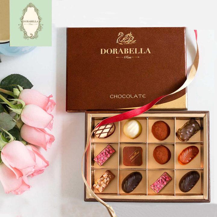 法国进口手工巧克力12粒diy创意表白礼物礼盒装高颜值生日送女友