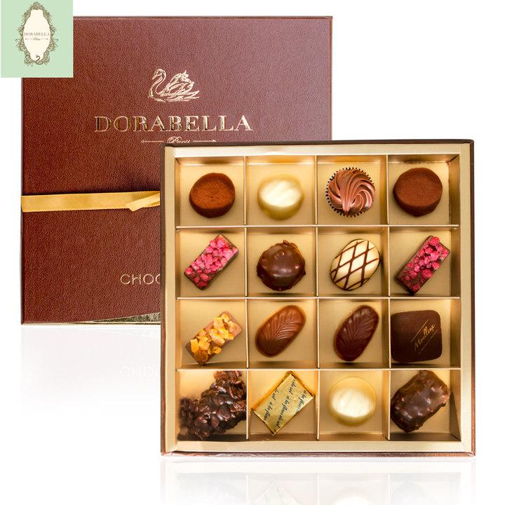 朵娜贝拉纯可可脂法国进口生日礼物手工黑巧克力diy礼盒装送女友