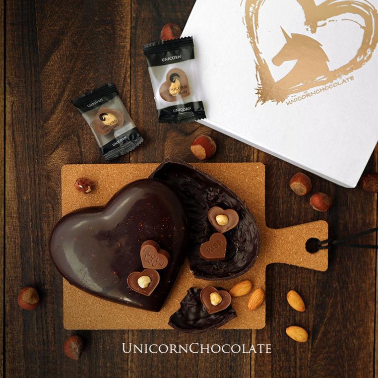 比拳头还大的巧克力心,你的吃货女友,想要创意巧克力哦
