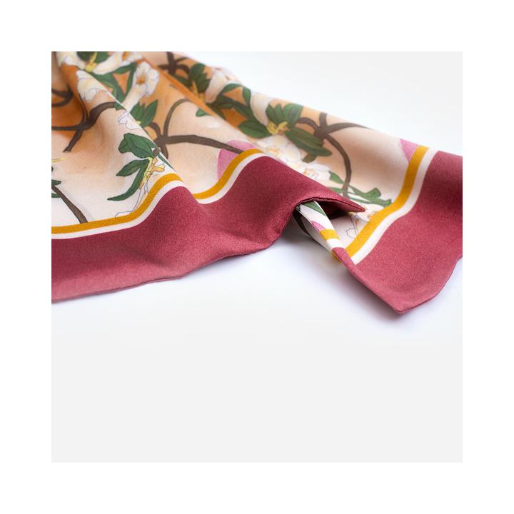 双成记|All About Balance系列|高山杜鹃印花真丝缎面双面领巾