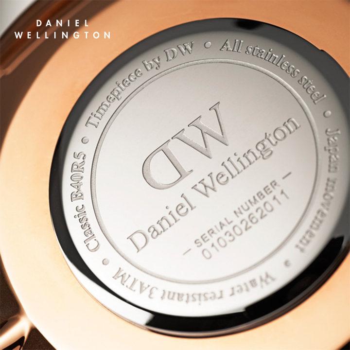 DW官方直发DanielWellington 新品 丹尼尔惠灵顿DW黑手表尼龙带男表黑表盘