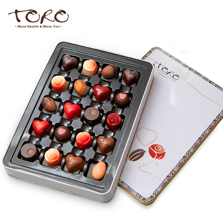 TORO 玫瑰心语情人节夹心巧克力礼盒送女友 生日礼物送闺蜜