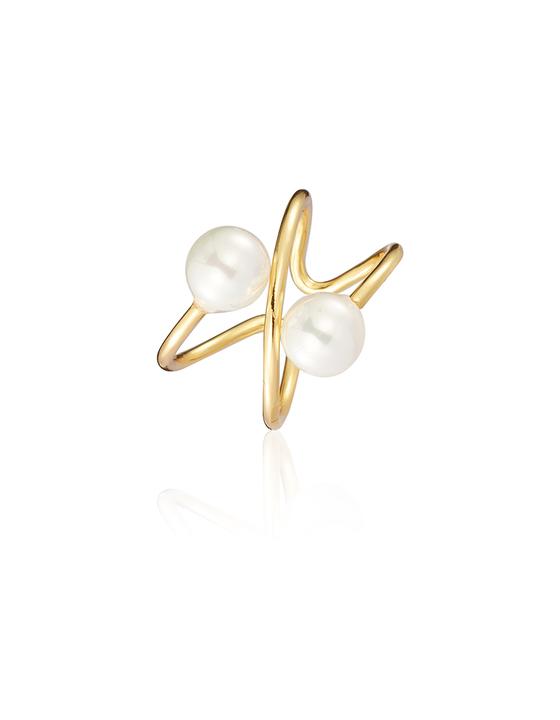 Celestine【Exclusive】双边珍珠戒指