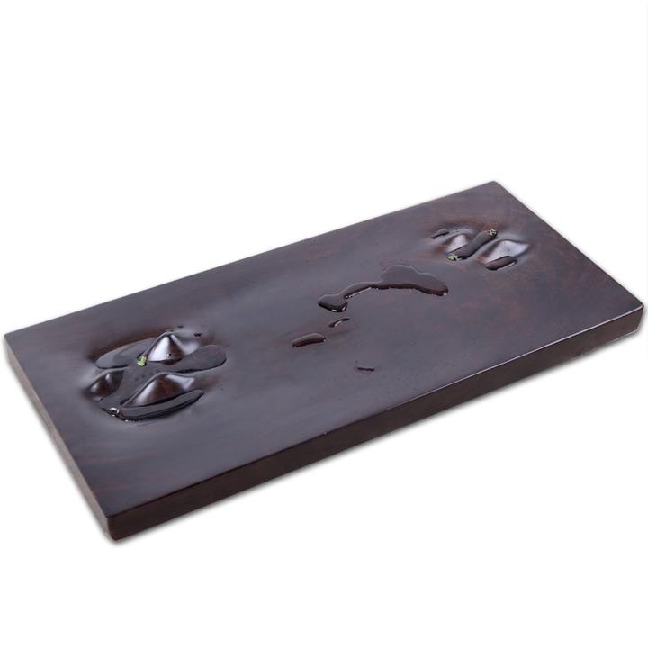 LiveDesign意物设计山水茶盘实木创意礼品高档礼品简约枯山水茶台