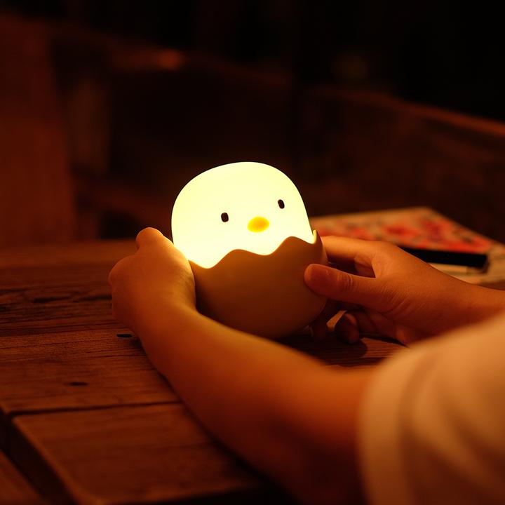 蛋壳鸡小夜灯 创意充电usb床头夜灯 起夜喂奶 灯床头拍拍灯礼物