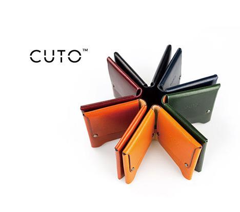 定制              CUTO短款男士小钱包一张皮手工迷你青年横款头层牛皮简约定制皮夹