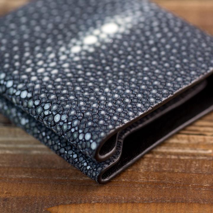 CUTO珍珠鱼皮男士小钱包超薄真皮女钱夹欧美短款时尚横款皮夹