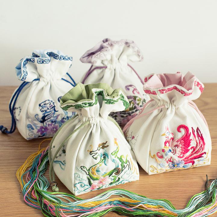 王的手创 手工制作创意diy布艺材料包 立体刺绣入门自制礼物工具