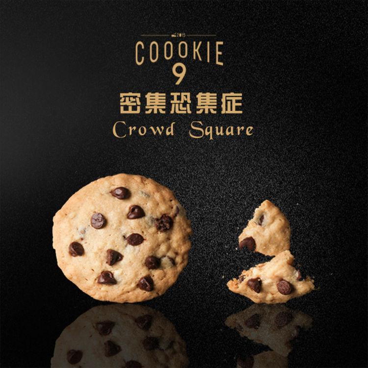大块巧克力浓郁坚果香,高颜值的美味,网红coookie9曲奇礼盒