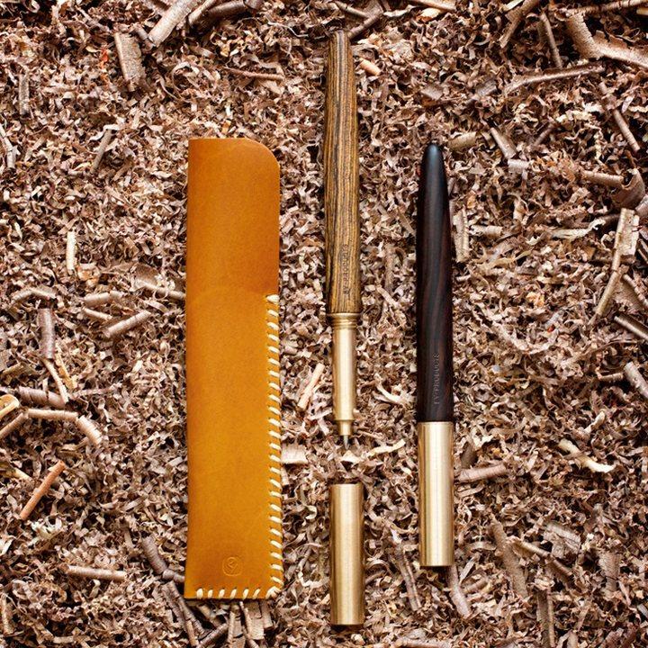 匠心之笔01木制自然中性笔黄铜金属签字笔黑送男女友个性礼物礼品