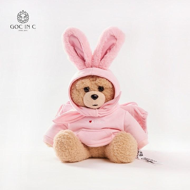 GOC IN C联名DUEPLAY新品兔子熊安全防爆暖手宝