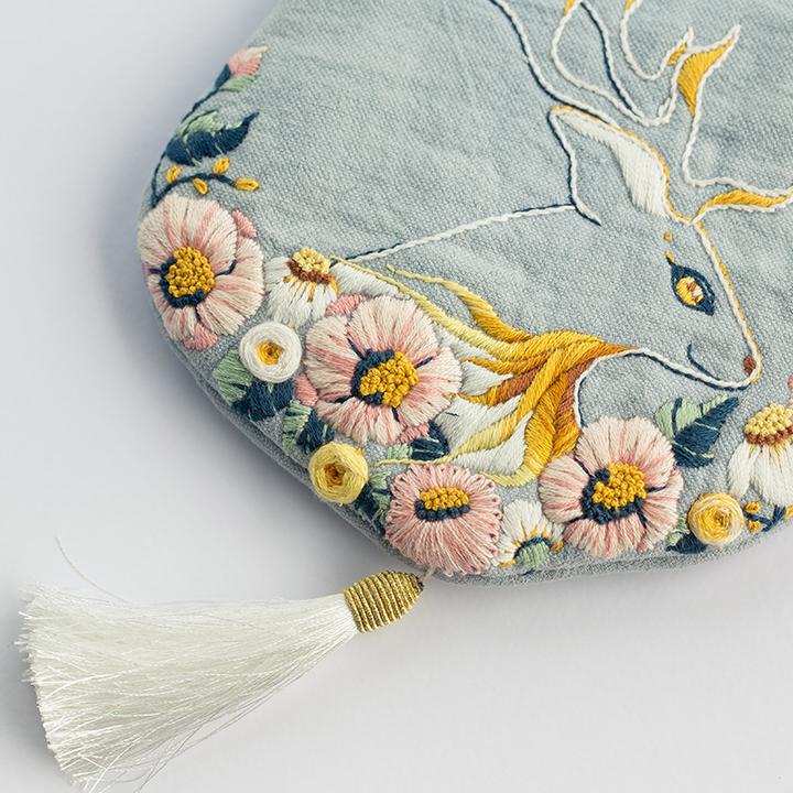 王的手创 立体刺绣diy手工布艺制作材料包口金包新手成人创意套件
