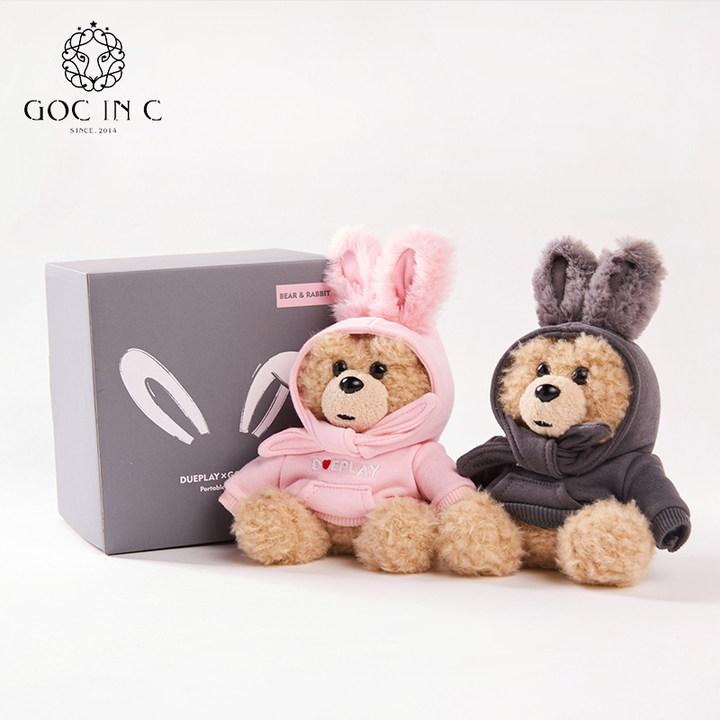 GOC IN CxDUEPLAY新品兔子熊移动电源充电宝