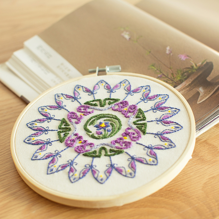 王的手创 手工制作成人diy布艺材料包 立体刺绣入门自制礼物孕妇