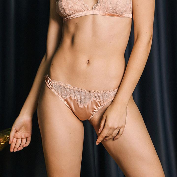 Lucia Berutto女士性感蕾丝拼接三角内裤