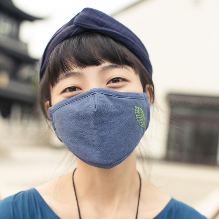 王的手创 情侣款经典棉麻口罩清新自然 冬天保暖高效防霾舒适口罩