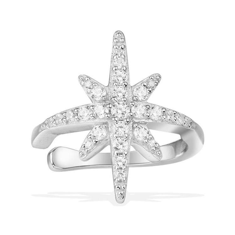 """单只银色流星耳骨夹,「APM明星同款首饰」买得起的""""真金白银真宝石"""""""