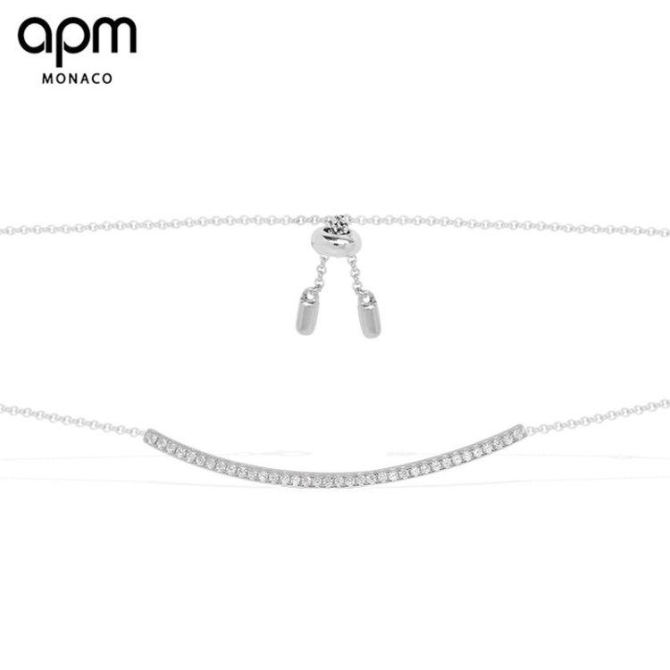 """长条一字项链,「APM明星同款首饰」买得起的""""真金白银真宝石"""""""