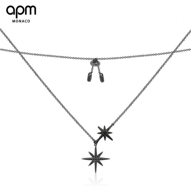 """黑色流星项链,「APM明星同款首饰」买得起的""""真金白银真宝石"""""""