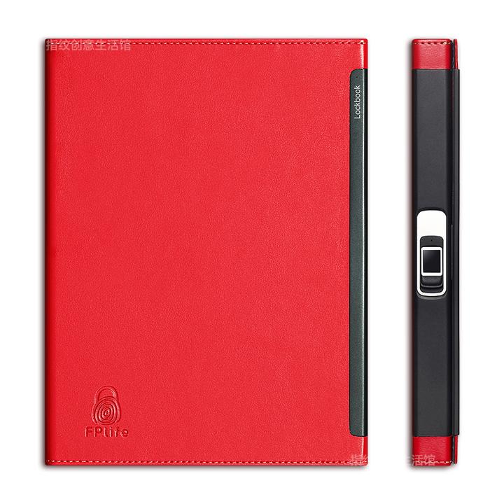 Lockbook指纹锁笔记本横间日记手帐商务礼品文具皮质记事本
