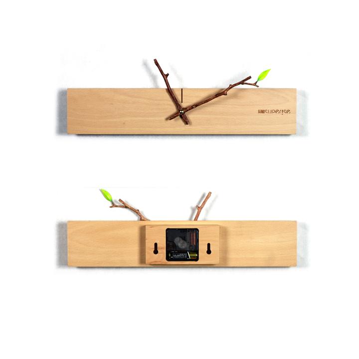意外 简约家居自然风格 萌芽挂钟 创意钟表 客厅卧室装饰壁钟