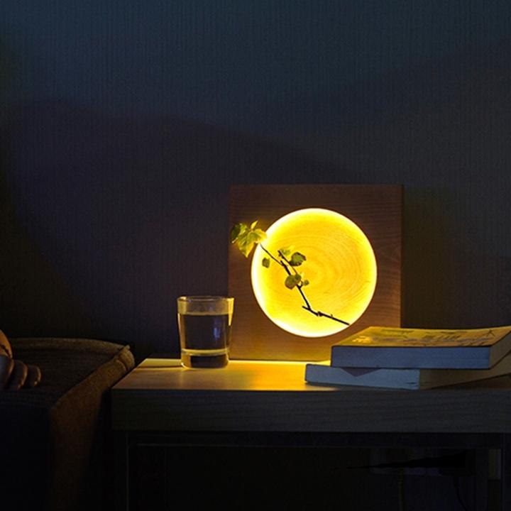 意外中式满月装饰台灯简约卧室床头灯创意温馨台灯时尚个性灯具
