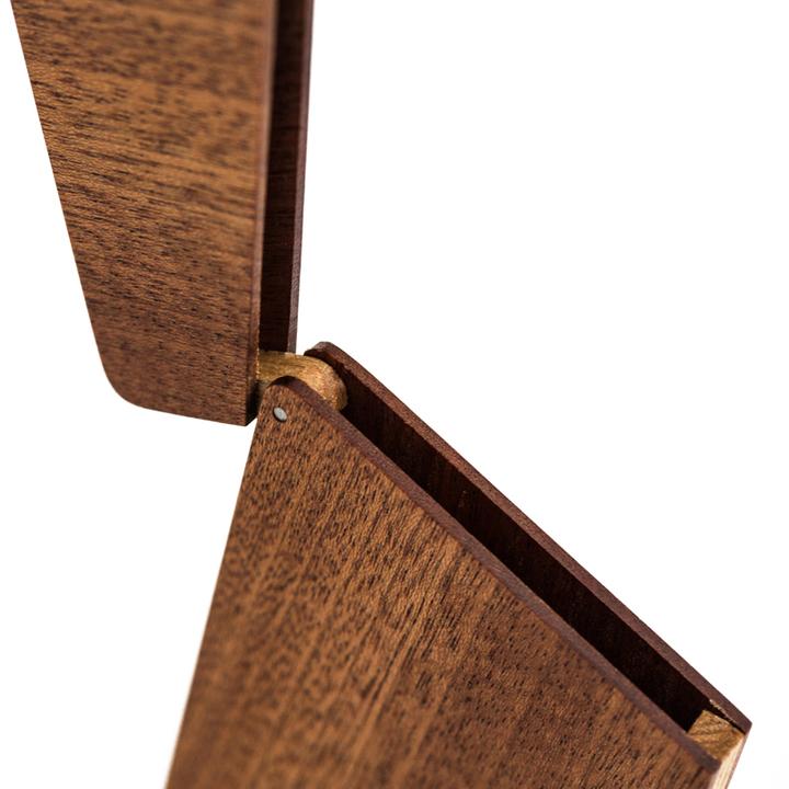 自然和家实木质商务名片盒夹创意办公男式翻盖名片夹送男友礼品